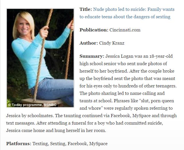 Jessica logan case