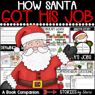 This book companion for How Santa Got His Job contains comprehension questions, vocabulary words, graphic organizers, and two directed drawings!