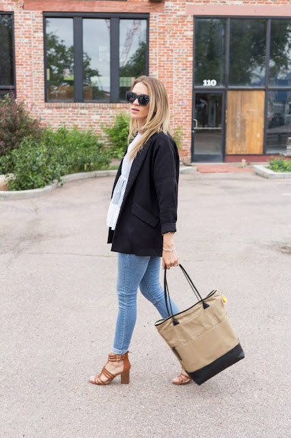 Oversized Blazer with Jeans