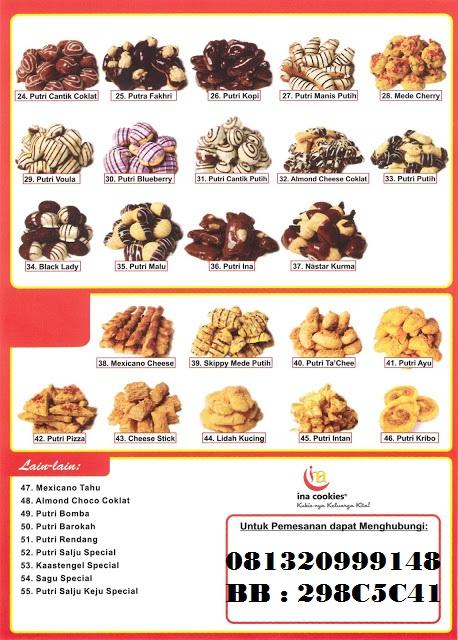 Kue Kering Ina Cookies Kue Kering Ina Cookies Harga Reseller