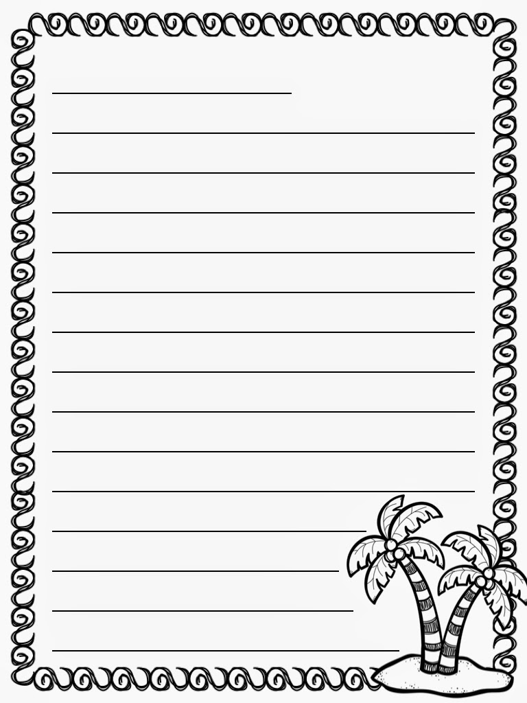 Kindergarten writing paper printable free elementary for Learning to write paper template