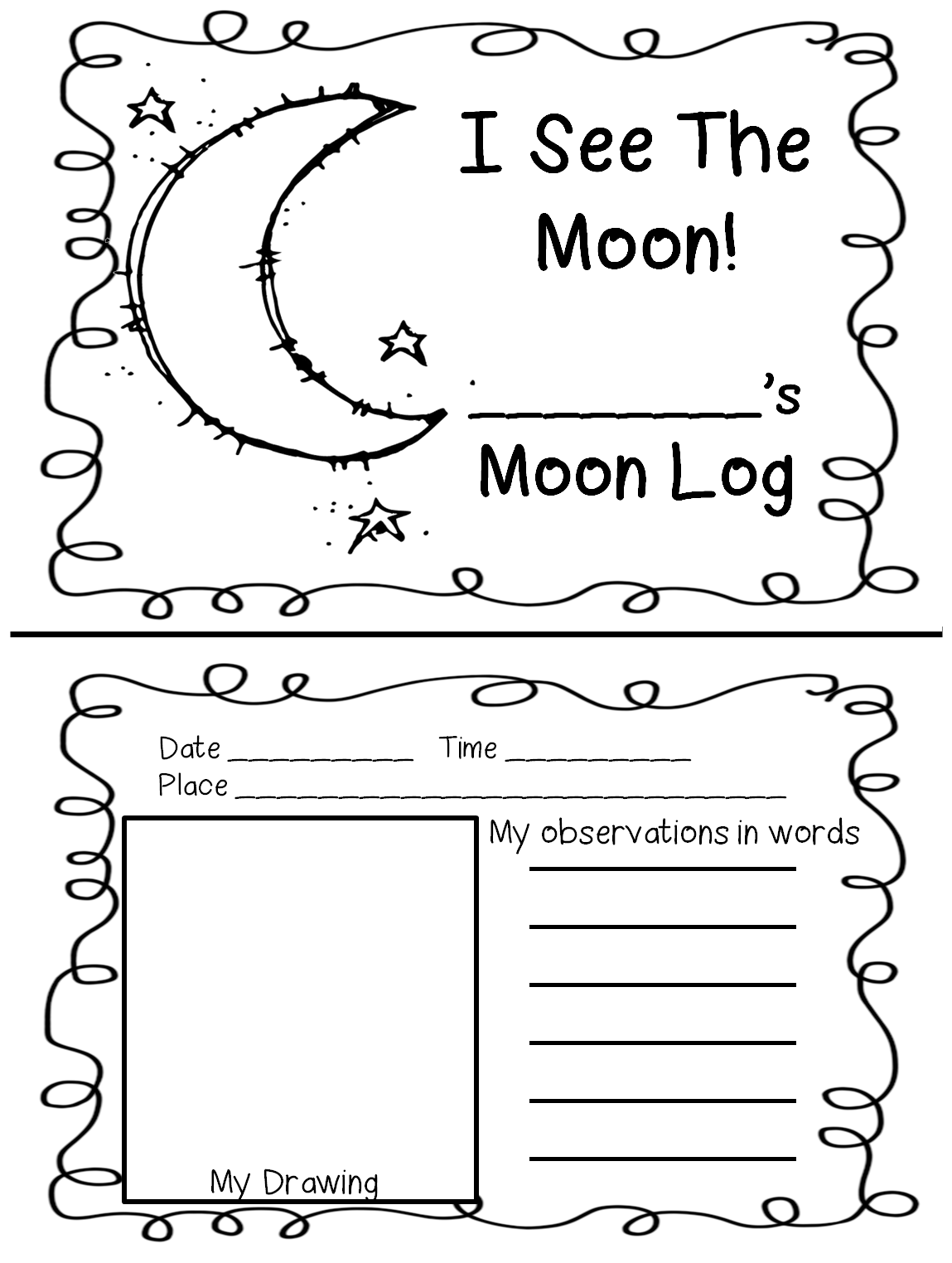 night+sky+with+splat+7 Objects In The Sky Activities For First Grade on
