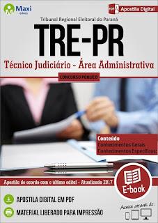 Apostila TRE PARANÁ - Técnico Judiciário