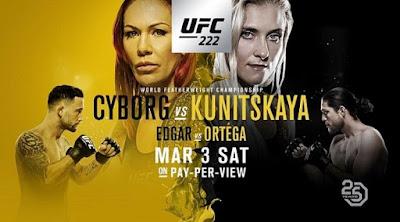 Ver Repeticion UFC 222 Cyborg vs Kunitskaya 03/03/2018 EN HD