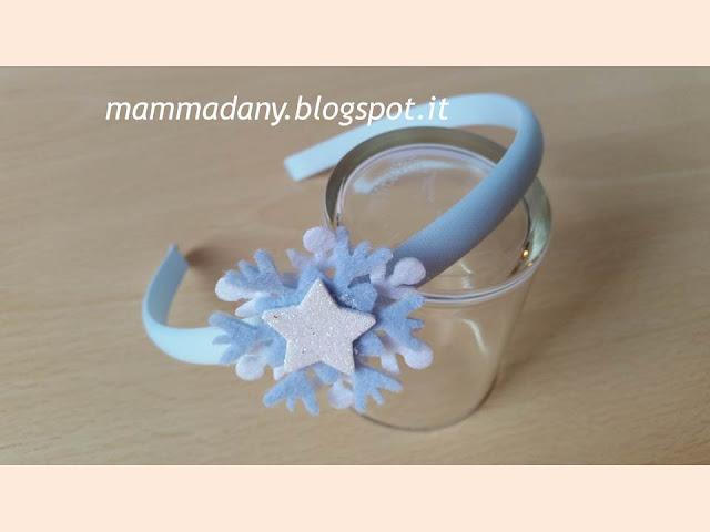 Cerchietti per capelli Frozen 2 con fiocco e stellina bianca