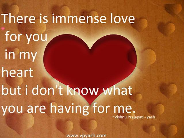 immense love