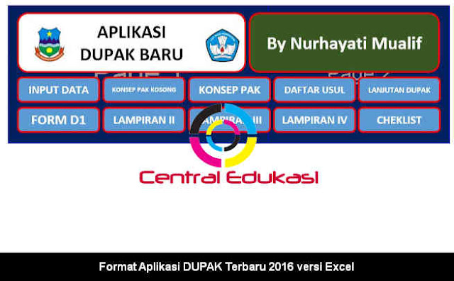 Download Format Aplikasi DUPAK Terbaru 2016 versi Excel