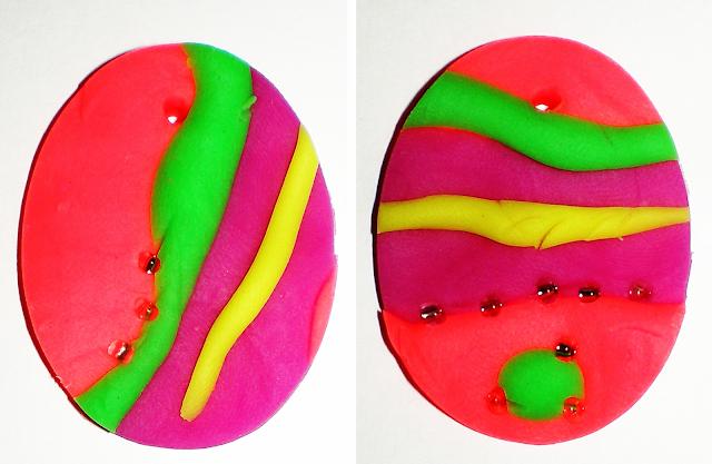 Ouă decorative din pastă de modelaj