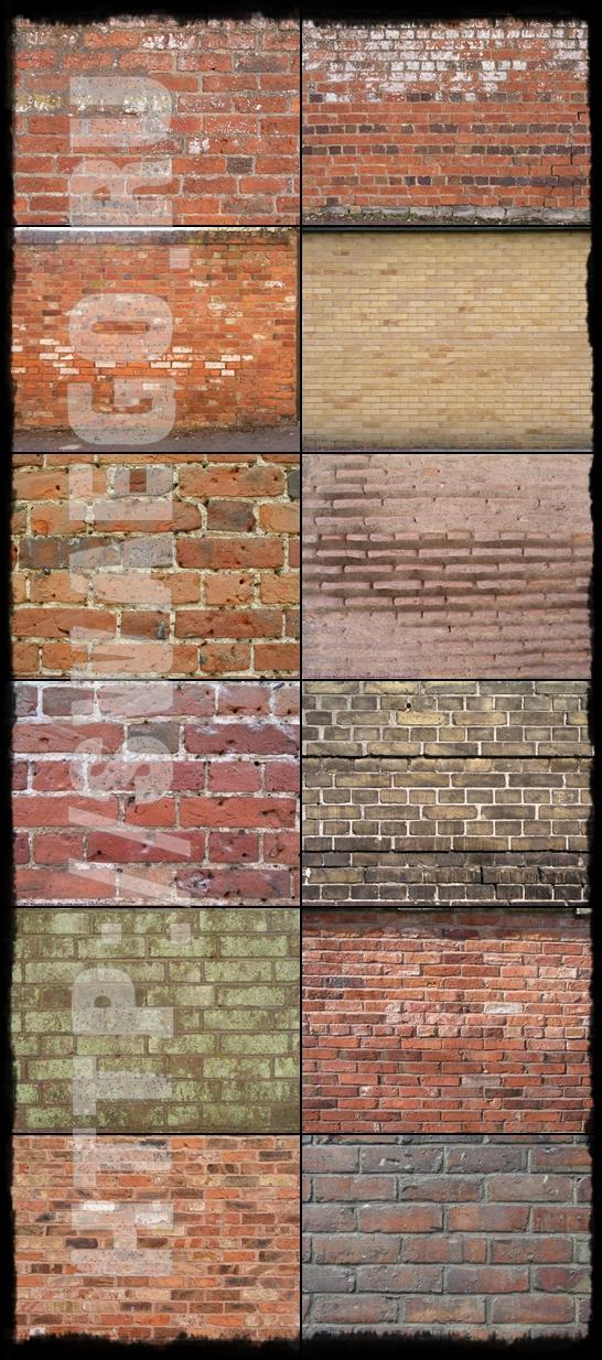 Текстуры кирпичных стен для Фотошопа