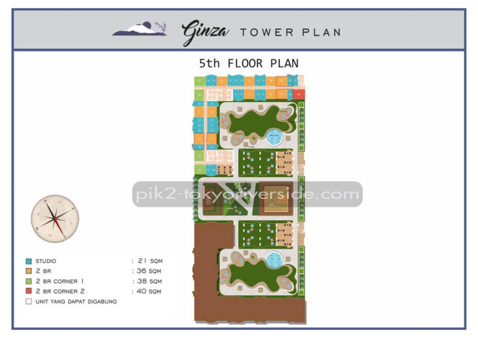 Site Plan Tokyo Riverside Apartment 5 Floor