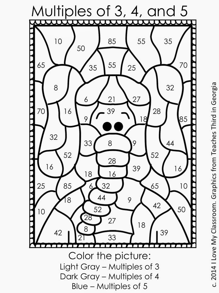 Free coloring pages of prime and composite