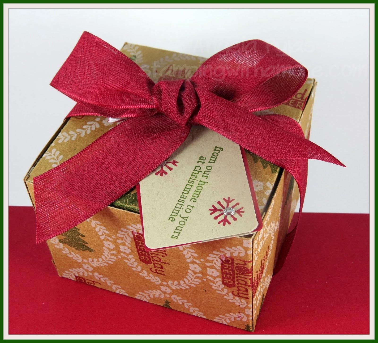 Stampingwithamore Mini Bundt Cake Christmas Box