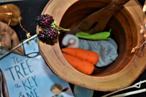 bouncing blackberries in the couldron for personalised story book the tree the key and me
