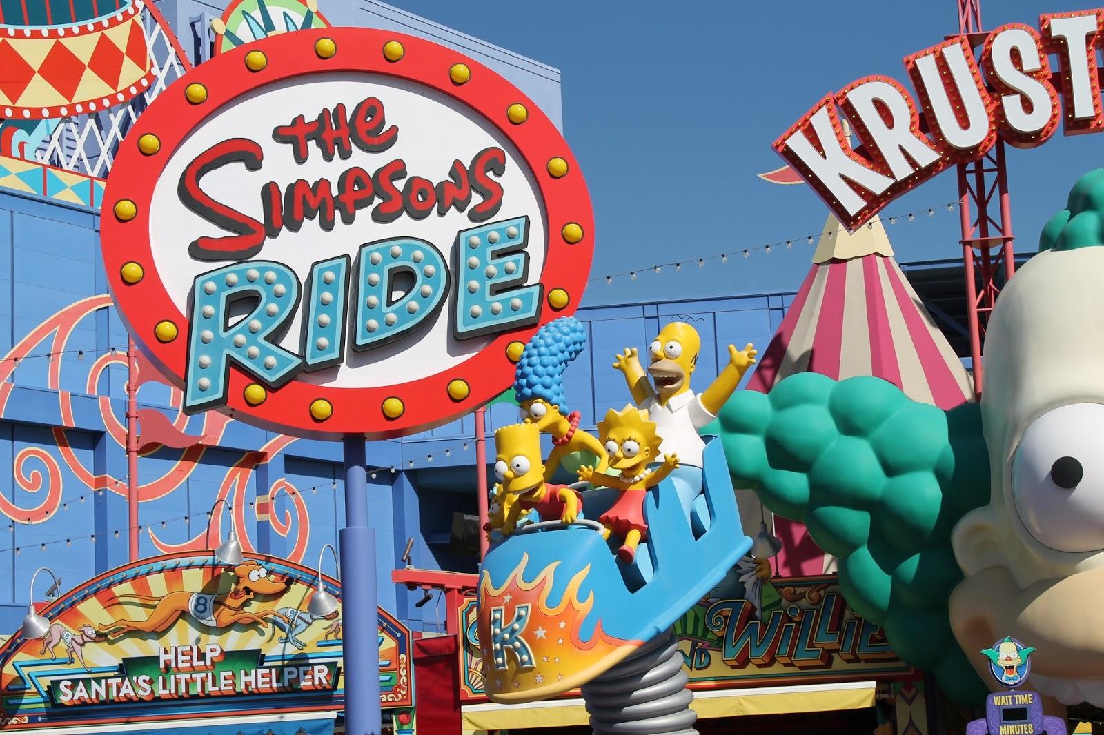 USA états unis amérique vacance transat roadtrip ouest américain universal studios the simpsopns ride