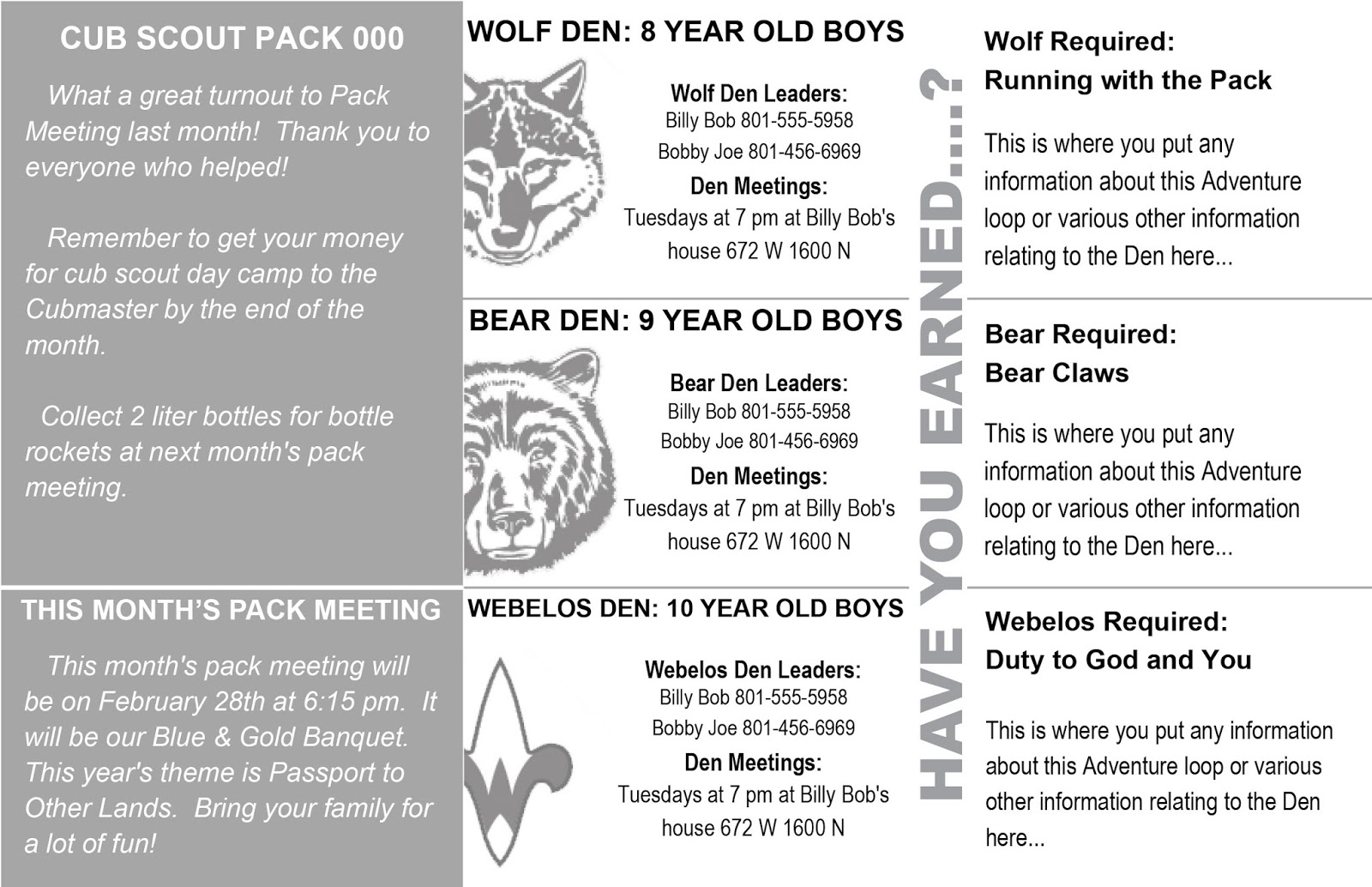 akela s council cub scout leader training cub scout newsletter