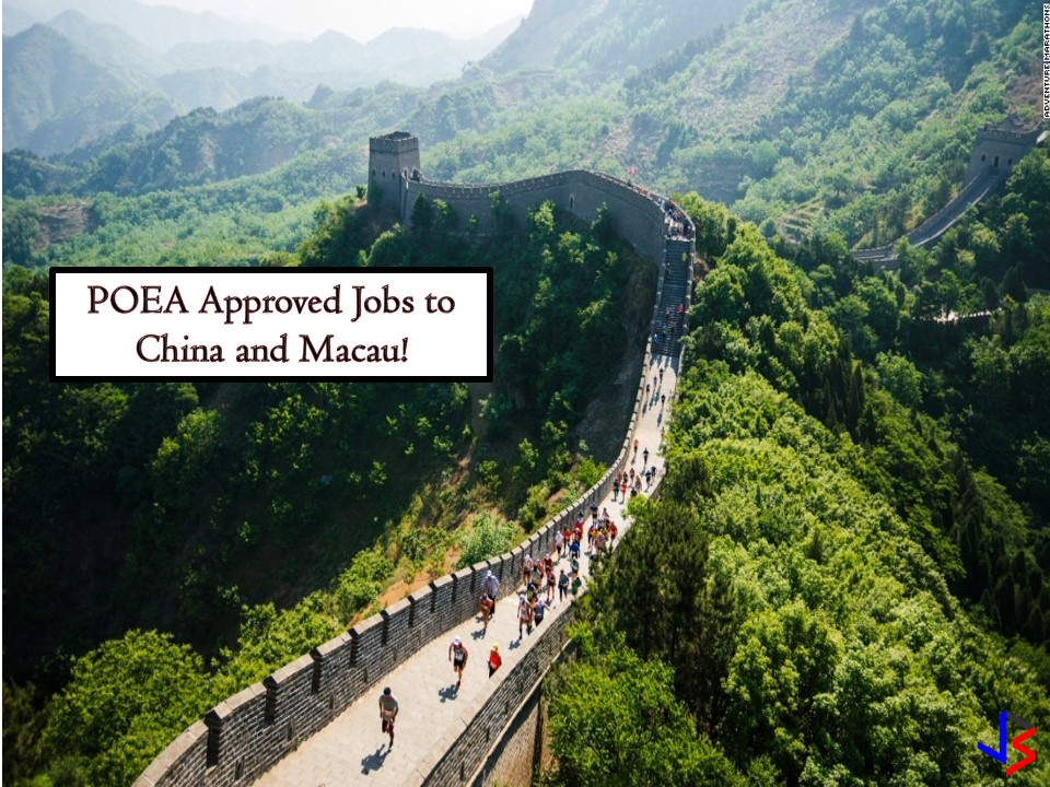 Looking for international employment opportunities? If yes, then scroll down below to see the complete list of vacancies or job orders approved by the Philippine Overseas Employment Administration (POEA) to China and Macau. The following are the latest list of job orders where you can apply this October 2018!  Please reminded that jbsolis.net is not a recruitment agency, and all information in this article is taken from POEA job posting sites and posted for the general information of the public.    The contact information of recruitment agencies is also listed. Just click your desired jobs to view the recruiter's info where you can ask a further question and send your application. Any transaction entered with the following recruitment agencies is at applicants risk and account.