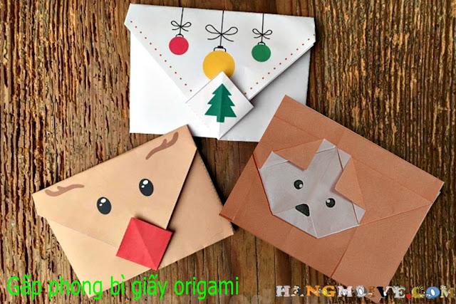 Cách gấp, xếp phong bì hình chó cún dễ thương bằng giấy A4 - Origami Fold