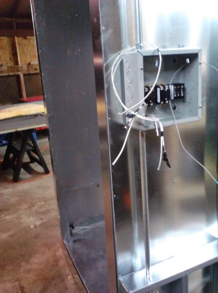 powder coating oven build wiring control box