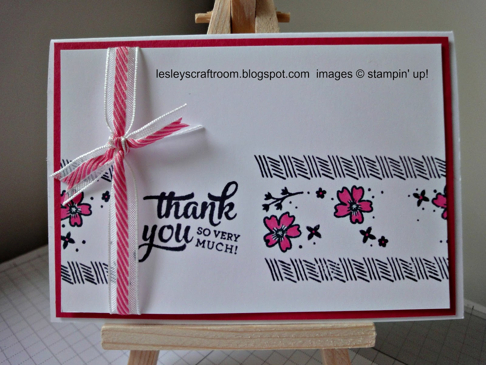 Lesley 39 s craft room mixed borders for Stampin pretty craft room