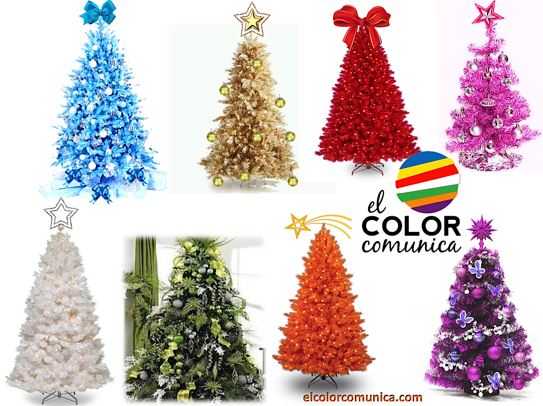 El color comunica significado del arbol de navidad - Arbol de navidad colores ...