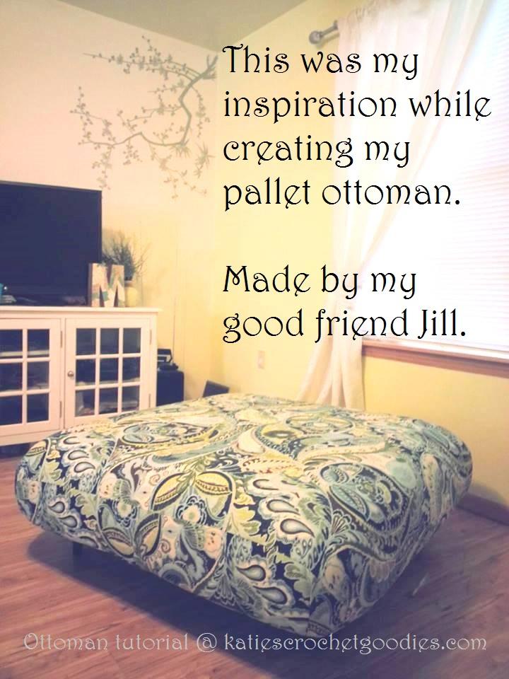 Diy Pallet Ottoman Tutorial Katie S Crochet Goodies