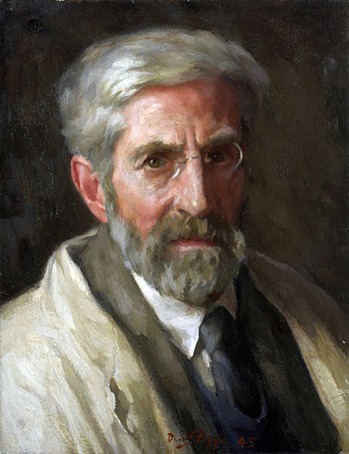 Self Portrait, David Foggie, Scottish Painter, International Art Gallery, Portrait Fine arts