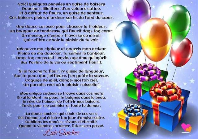 Beaux Textes Pour Souhaiter Un Joyeux Anniversaire Poesie D Amour