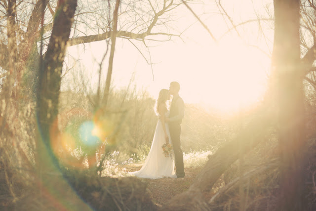 bride+groom+bridal+dress+gown+floral+hair+wreath+rustic+woodland+ecofriendly+eco+friendly+green+emerald+color+of+the+year+pantone+cake+dessert+table+reception+centerpiece+blue+hipster+fall+autumn+gideon+photography+7 - Woodland Fairytale