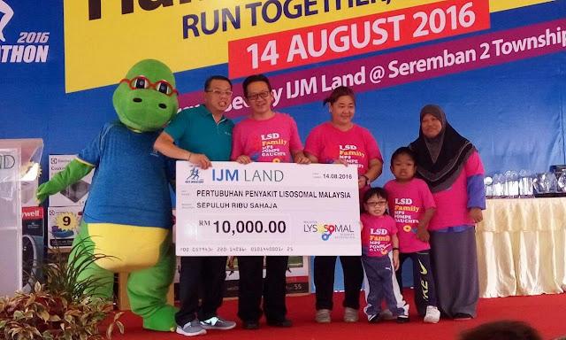 Malaysia Lysosomal Disease Association, IJM Land Half Marathon 2016,