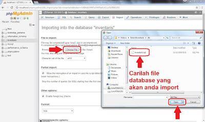 Cara Import Database MySQL di phpMyAdmin