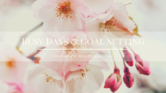 Busy Days & Goal Setting