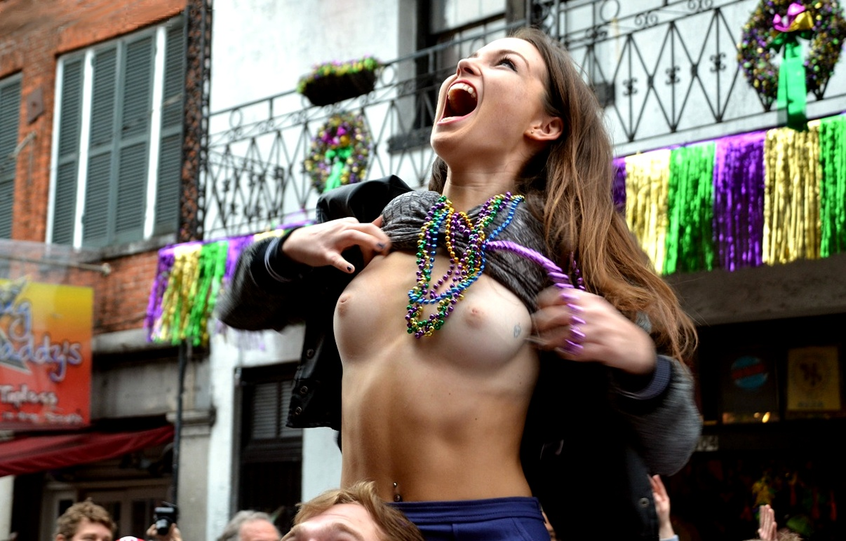 Mardi Gras Nude Female 19