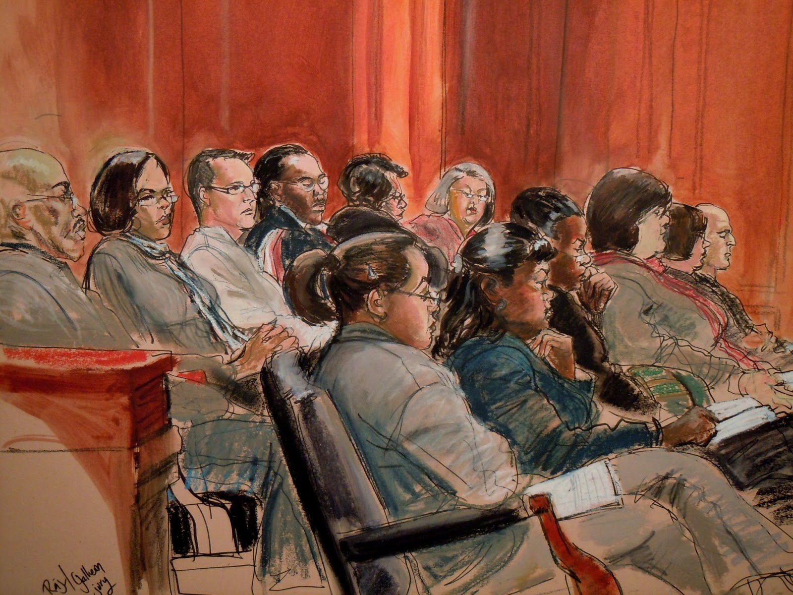 ILLUSTRATED COURTROOM: Raj Rajaratnam Insider Trading ...