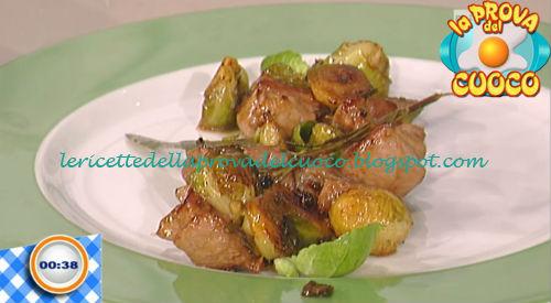Spezzatino con lardo e cavolini di Bruxelles ricetta Bottega da Prova del Cuoco
