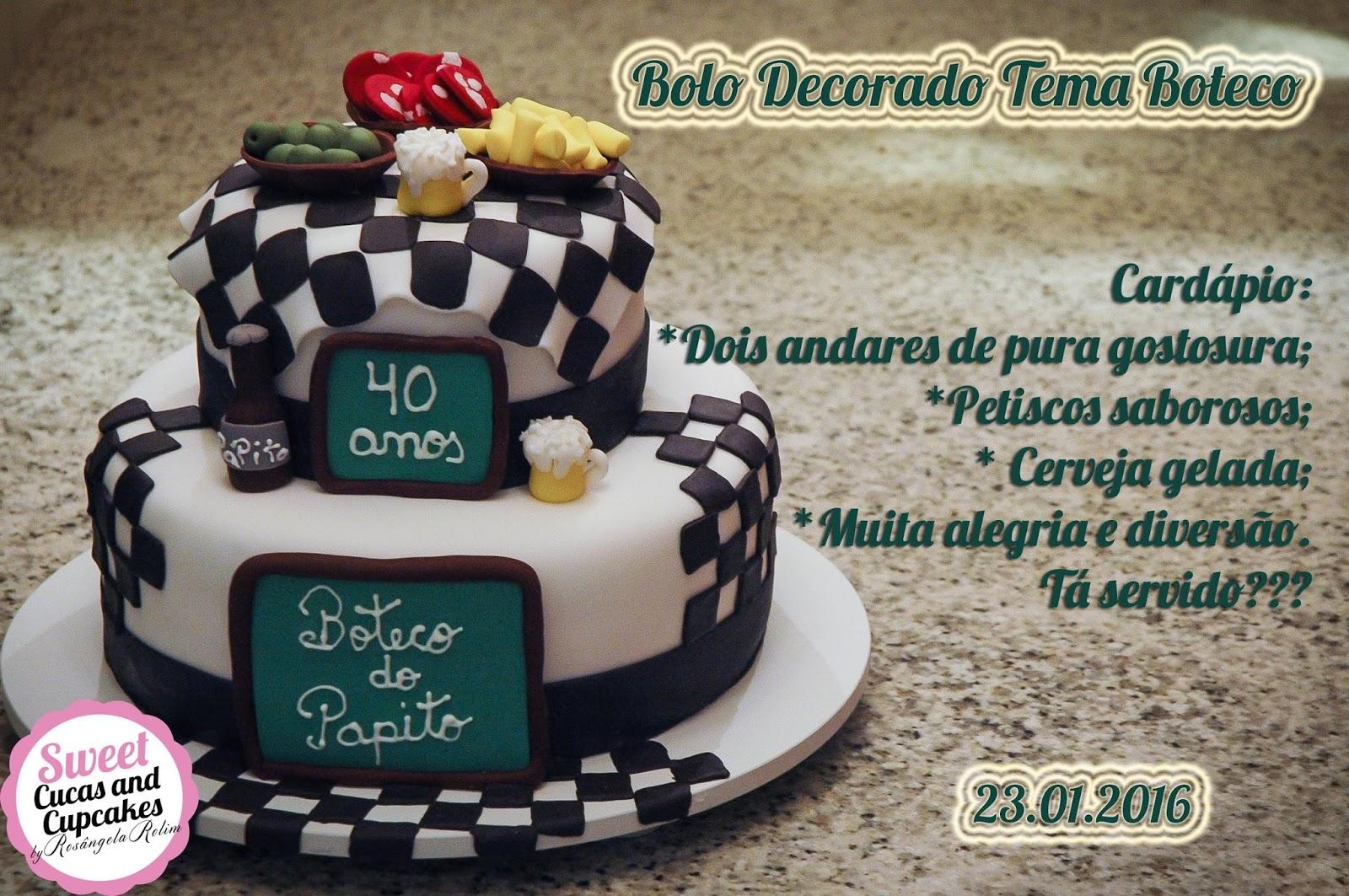 Sweet Cucas and Cupcakes by Rosângela Rolim: Bolo Decorado