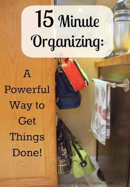 15 minute organizing