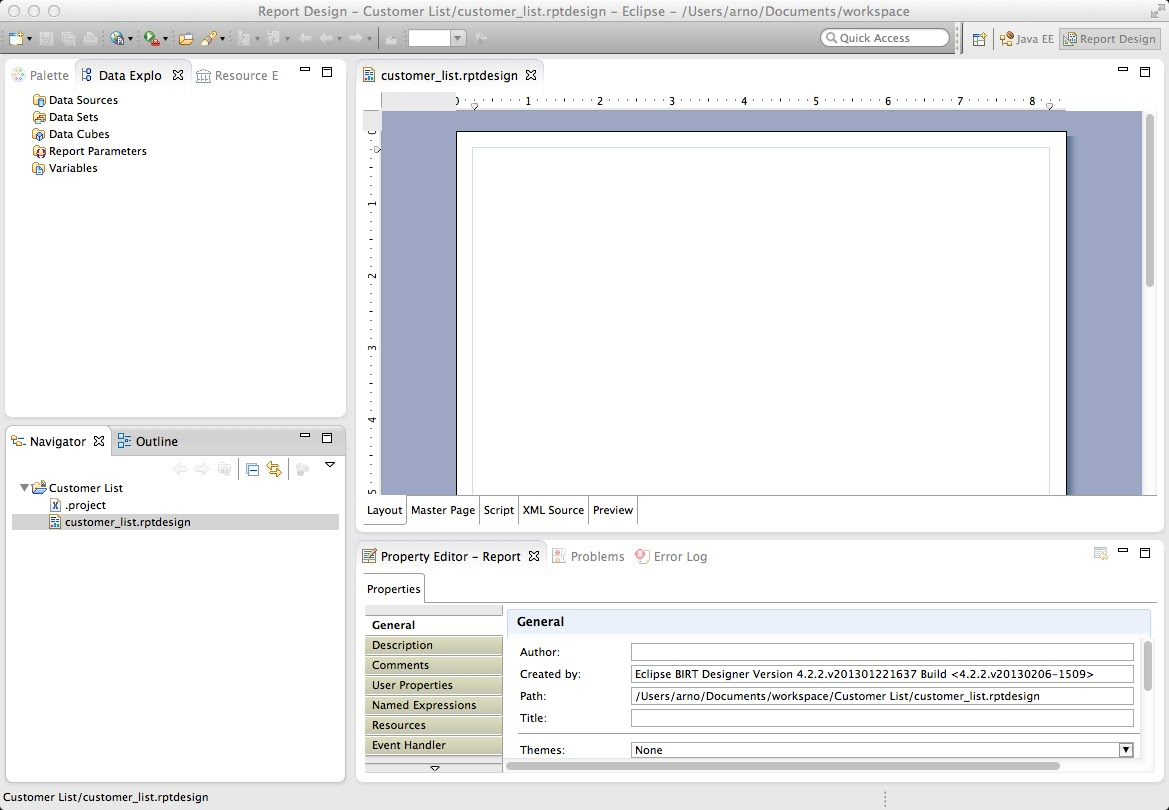 Eclipse Birt with ReportServer – The Basics |