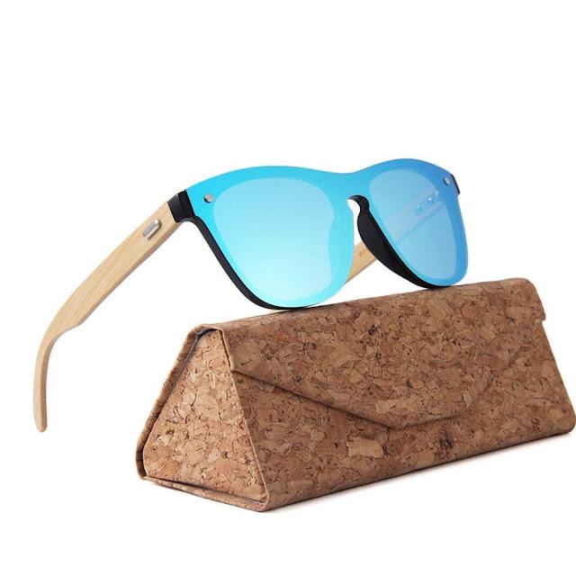Wooden UV400 Mirror Tint Bamboo Sunglasses