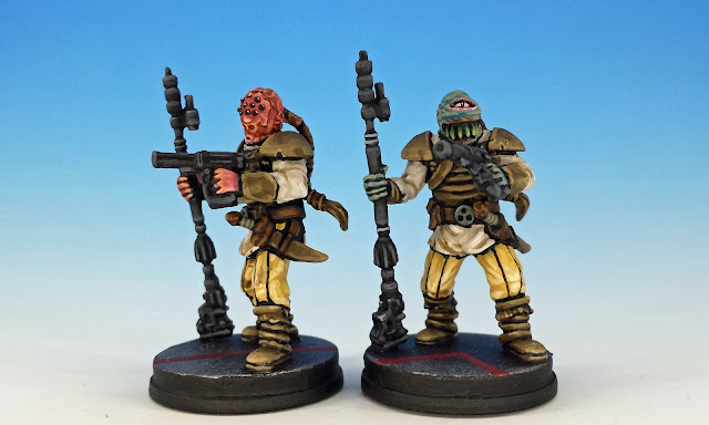 Weequay Pirate Elites (conversion), Imperial Assault (2016), painted miniature