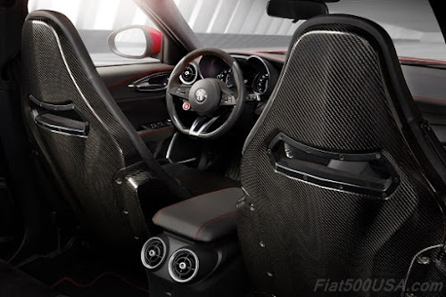 Alfa Romeo Giulia QV backseat view