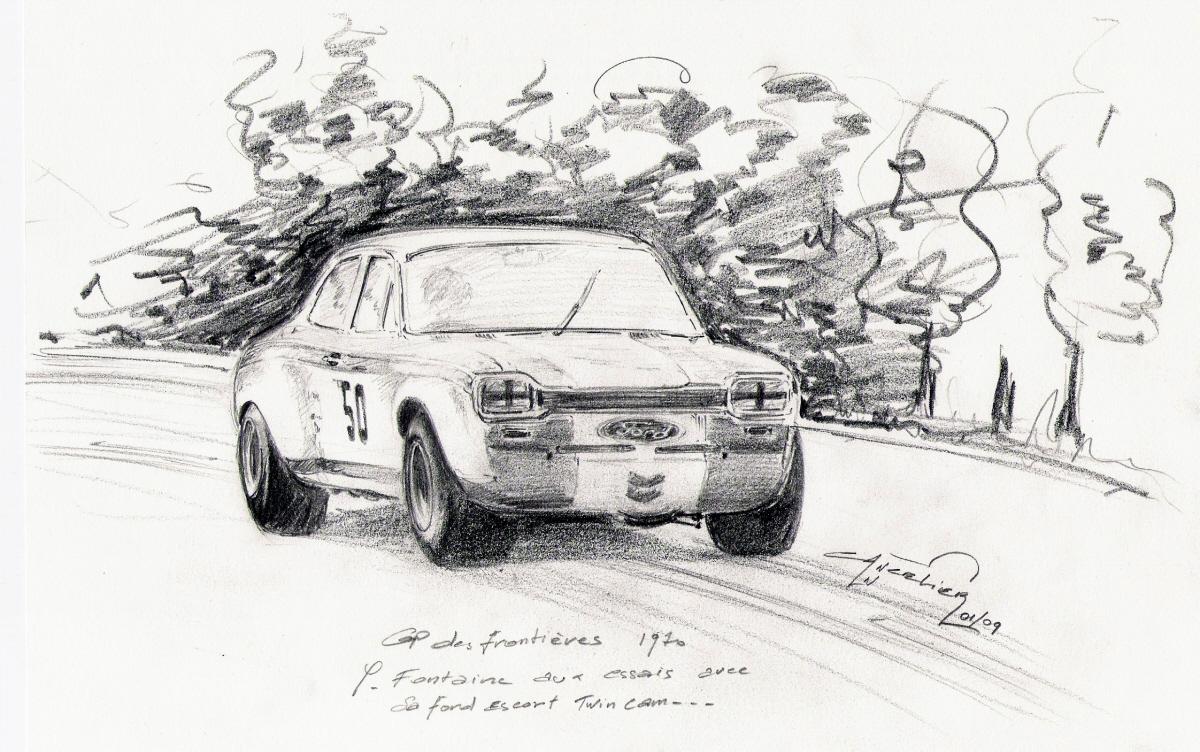Nicolas Cancelier art automobile/Automotive art: Sketches
