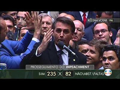 Bolsonaro votando a favor do impeachment de Dilma