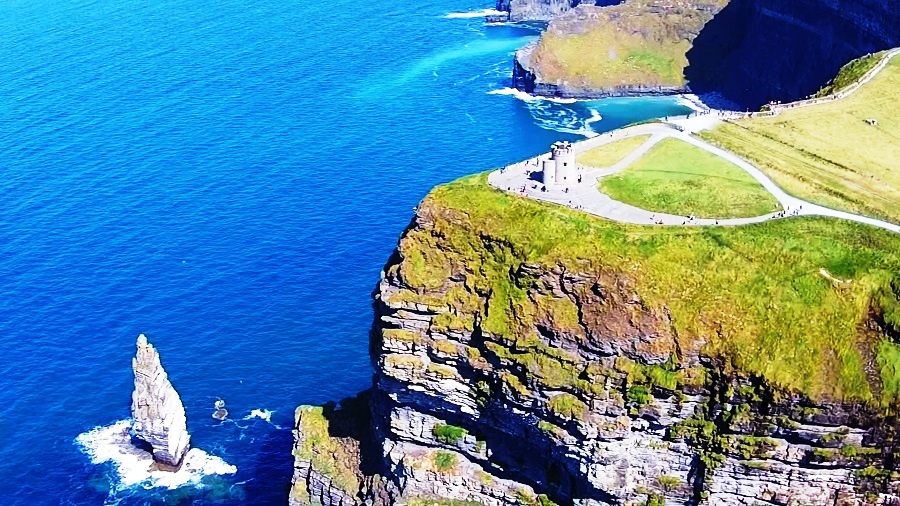 Cliffs of Moher, Ireland - The Best Scenic Views Provided by the Huge Amazing Cliffs Facing the Mighty Ocean