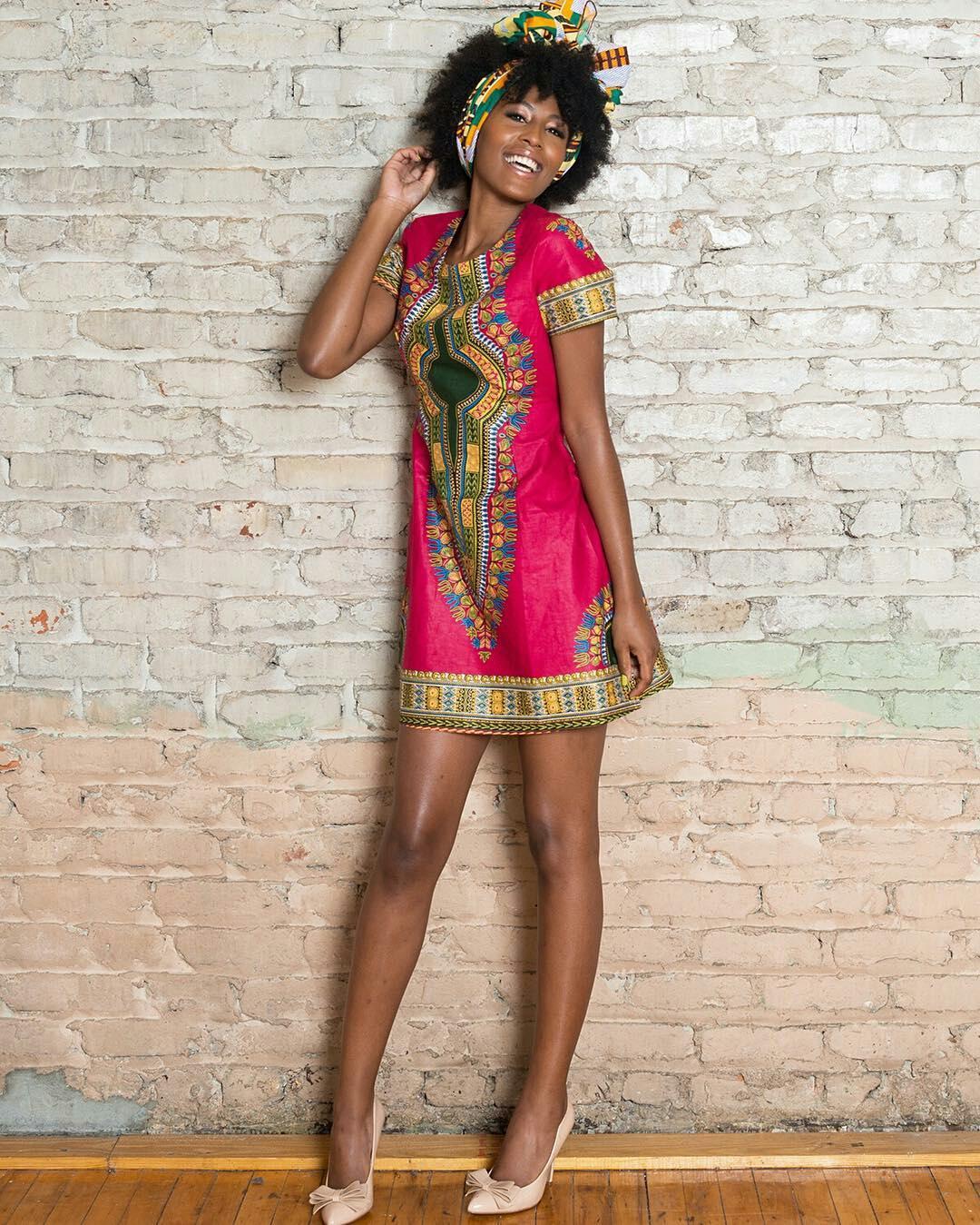 Dressing des 4 Saisons Concours Tunique Dashiki Giveaway Robe Trapèze Dress pink rose Zuvaa