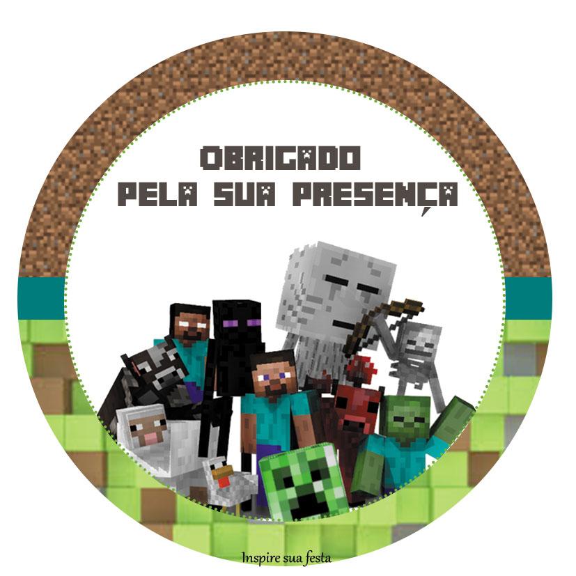 TATU BOLINHA DECORA  O kits para imprimir Minecraft