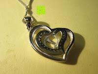 hinten: Morella® Damen Halskette Herz Buchstabe I 925 Silber rhodiniert mit Zirkoniasteinen weiß 46 cm