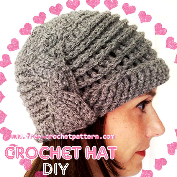 How to Crochet a Side-Cable Cloche Hat / Free pattern - Free Crochet ...