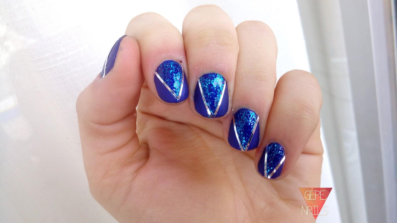 Gepe-nails: UÑAS DE NOCHEVIEJA | Propuesta #1 AZUL