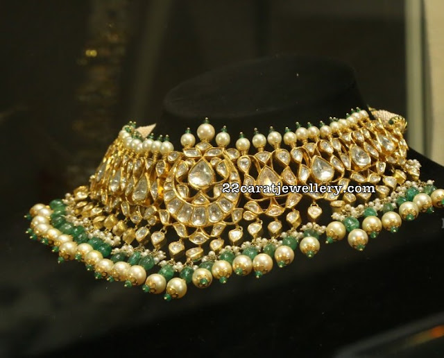 Polki Kundan Chokers by Jaipur Gems