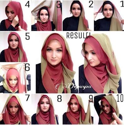 Bagi semua perempuan muslim menggunakan jilbab merupakan sebuah kewajiban alasannya ialah menggunakan jil Cara Memakai Jilbab Segi Empat Tutorial Terbaru 2018